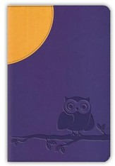 ESV Compact Bible, TruTone, Moonlight Owl, Purple