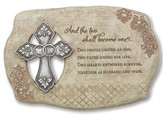 And the Two Shall Become One Wedding Plaque