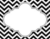 Black Tie Affair Chevron Name Tags (Pack of 45)