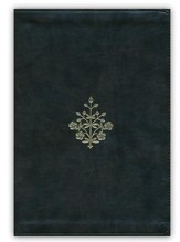 ESV Large Print Bible, Olive Branch Design, Imitation Leather Dark Olive Green