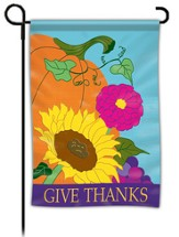Give Thanks, Pumpkin Flag, Small