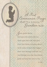 A First Communion Prayer Card, Grandson, Pack of 7
