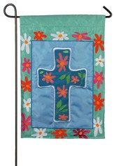 Floral Cross Flag, Small