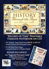 History Through the Ages Record of Time & Suggested  Placement Guide Combo on CD-ROM