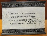 Two People Together Love Plaque