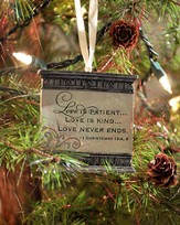 Love Is Patient Ornament