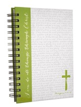 Green Cross, Large Spiral Bound Journal