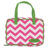 Chevron Bible Cover, Pink & White, Large