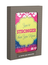 Stronger Than You Know Boxed, Blank Note Cards, Box of 12