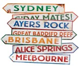 Outback Rock VBS 2015: Australia Directional Sign Cutouts, pack of 4