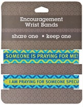 Praying Encouragement Wrist Bands, Package of 2