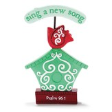 Psalm 96:1 Bird House Garden Figure