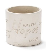 Eternal Garden Faith, Hope, Joy, Peace Planter