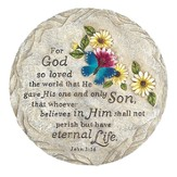 Eternal Garden Butterfly, John 3:16 Stepping Stone