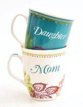 Mother Daughter Set of Gift Mugs