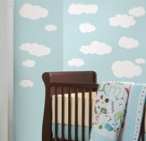 Clouds Vinyl Wall Stickers, White