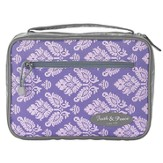 Purple & Gray Bible Cover with Faith & Peace Patch, Medium