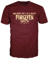 Forgiven Sinners Shirt, Burgundy, Extra Large