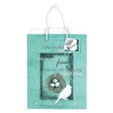 His Eye Is On the Sparrow Gift Bag, Medium