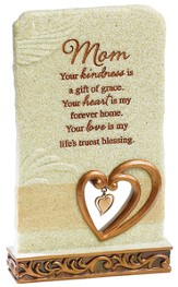 Mom, Your Kindness Is A Gift Of Grace Tabletop Plaque