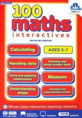 100 Math Interactives, Ages 5-7 CD-ROM