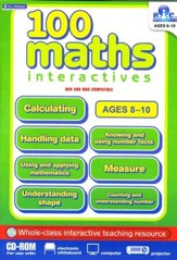 100 Math Interactives Grades 3-5 CD-Rom