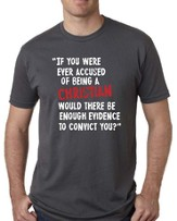Would There Be Enough Evidence To Convict Shirt, Gray, XX-Large