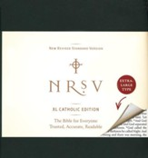 NRSV XL-Print Bible, Catholic Edition--imitation leather, green