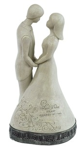Love Is One Heart Shared By Two Figurine