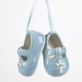 Baptismal Shoes Ornament, Blue