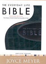 Everyday Life Bible, Bonded leather, Deep Teal With Graphite Inset