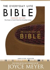 The Everyday Life Bible, Bonded Leather, Bronze with Rich Brown Alligator Inset