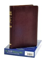 NASB Minister's Bible, Genuine leather, Burgundy