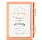 A Godly Woman Memo Pad and Pen
