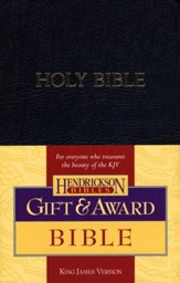 KJV Gift & Award Bible, Imitation leather, Black
