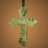 Love Never Ends Hanging Cross