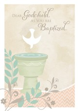 Baptism Cards, Dear Godchild, Pack of 6