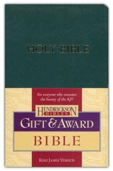 KJV Gift & Award Bible, Imitation leather, Dark green