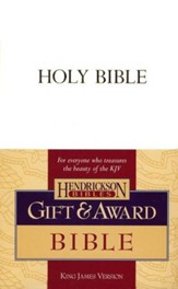 KJV Gift & Award Bible, Imitation leather, White , Case of 24