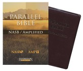 NASB Amplified Parallel Bible, bonded leather burgundy