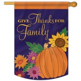 Give Thanks for Family Flag, Large