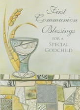 First Communion Blessings Cards, Godchild, Pack of 6