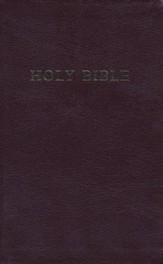 KJV Personal Size Giant Print Reference Bible, bonded leather, burgundy