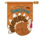 Happy Thanksgiving (turkey), Large Applique Flag