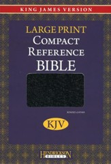 KJV Compact Reference Bible, bonded leather, black
