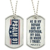 He Is My Refuge Dog Tag Pendant