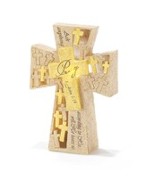 Pray-Ask Anything LED Lighted Tabletop Cross