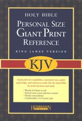 KJV Personal Giant Print Reference Bible Blue Bonded Leather