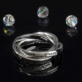 Love, Purity, Trust Triple Band Ring, Size 9