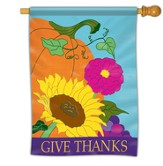 Give Thanks, Pumpkin Flag, Large
